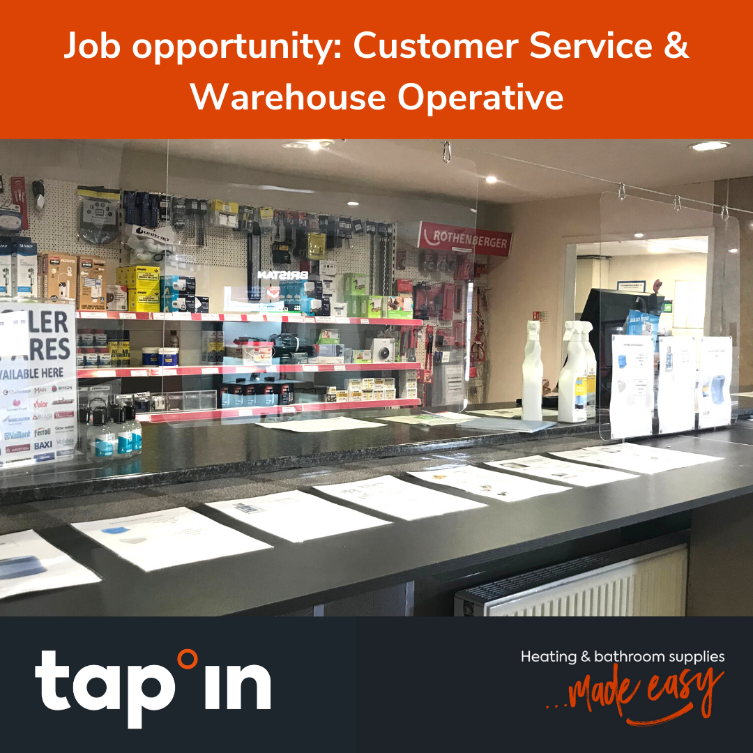 Job opportunity: Customer Service & Warehouse Operative