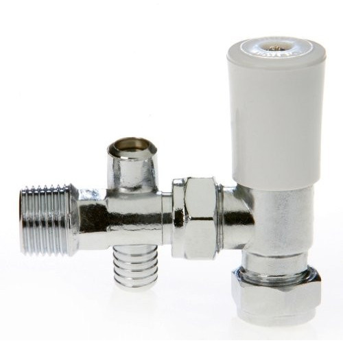 15mm Drayton Angled Manual Radiator Valve With Drain Off
