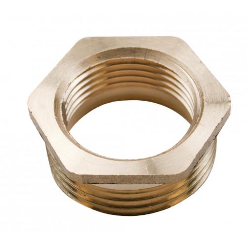 """Brass Hexagon Bush - 1"""" x ¾"""""""