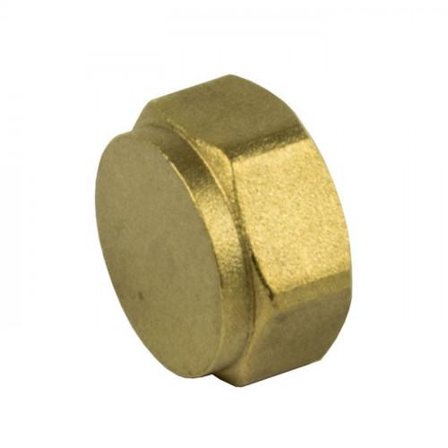 """Brass Cap - 3/8"""""""