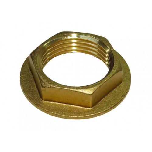 "Brass Flanged Backnut - ¾"""