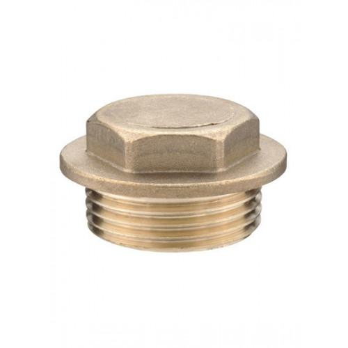 "Brass Flanged Plug -¼"""
