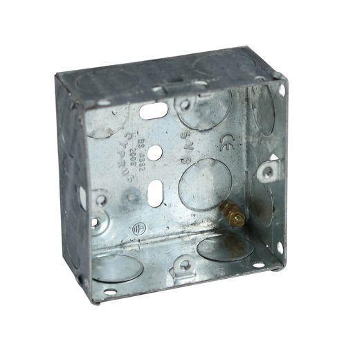 1 Gang Galvanised Steel Box -25mm