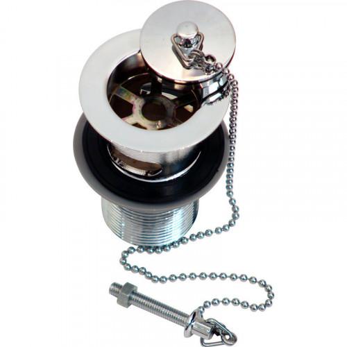 Aqua Unslotted Basin Waste + Chrome Plug & Chain
