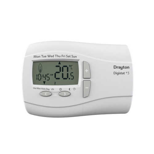 Drayton Digistat+3 7 Day Programmable Room Thermostat - Battery Operated