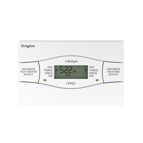 Drayton LP522SI 5/2 Day Twin Channel Digital Time Switch With Service Interrupter