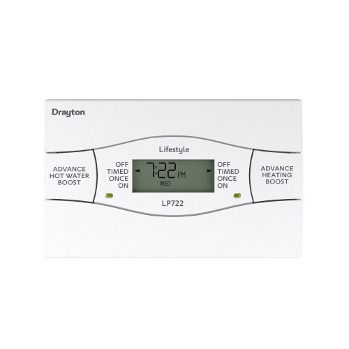 Drayton LP722SI 7 Day Twin Channel Digital Time Switch With Service Interrupter