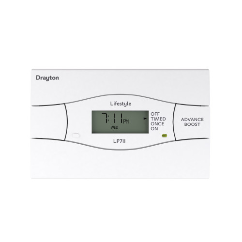 Drayton LP711SI 7 Day Single Channel Digital Timeswitch With Service Interrupter