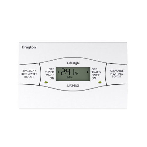 Drayton LP241SI 24 Hour Twin Channel Digital Time Switch With Service Interrupter
