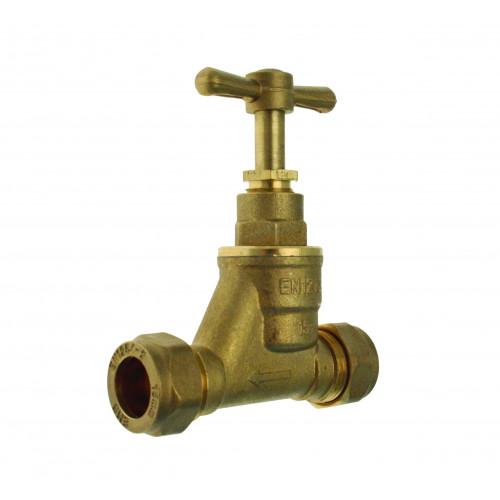 Brass Stopcock - 22mm