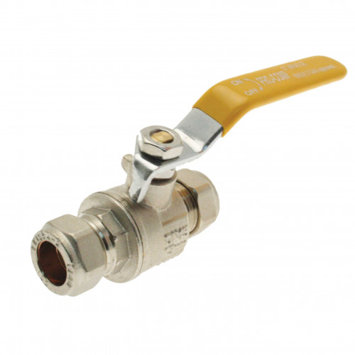 Lever Gas Valve - 22mm
