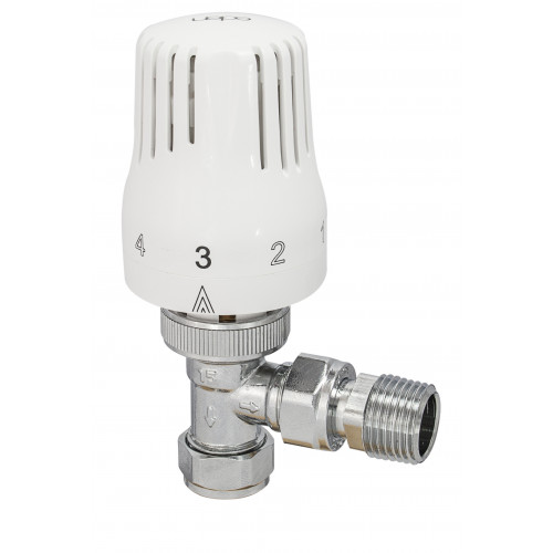 15mm Eden Angled Thermostatic Radiator Valve