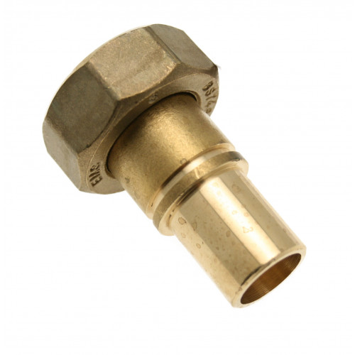 Grooved Gas Meter Union - 22mm