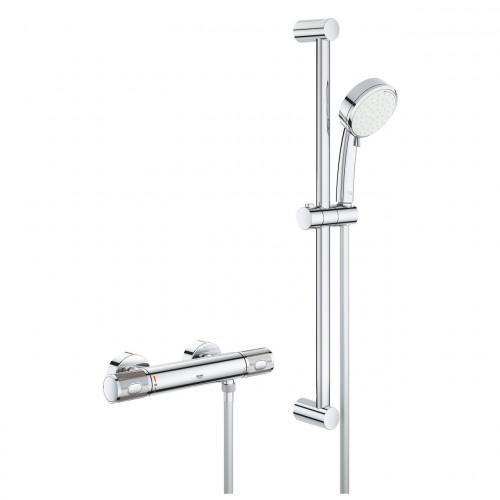 Grohe Grohtherm 1000 Performance Bar Shower + Shower Rail Kit