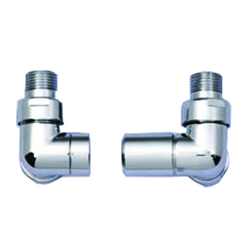 15mm Derwent Corner Manual Radiator Valves (Pair) - Chrome