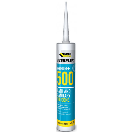 Everbuild 500 Bath & Sanitary Silicone - White