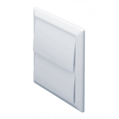 Square Flap Vent (White) -100mm