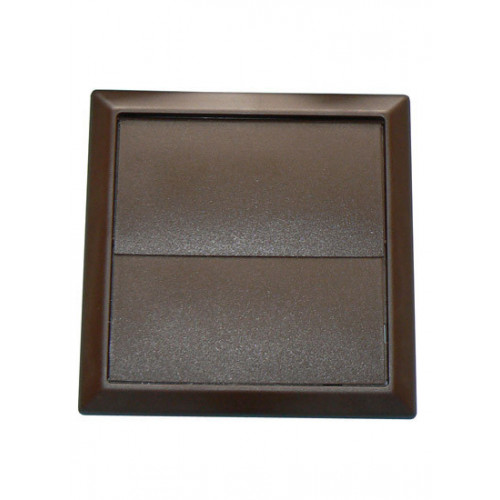 Square Flap Vent (Brown) -100mm