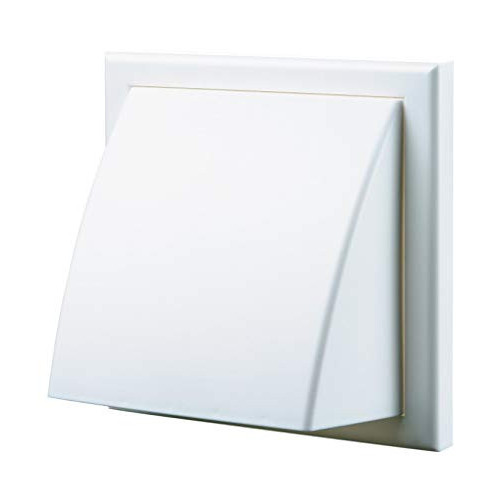 Cowled Vent (White) - 100mm