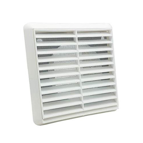 Fixed Louvered Vent (White) - 100mm