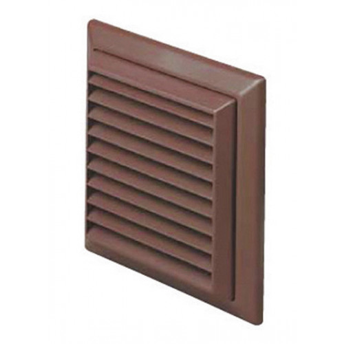 Fixed Louvered Vent (Brown) - 100mm