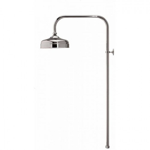 Aqualisa Aquatique 200mm Drencher Head + Rigid Riser - Chrome