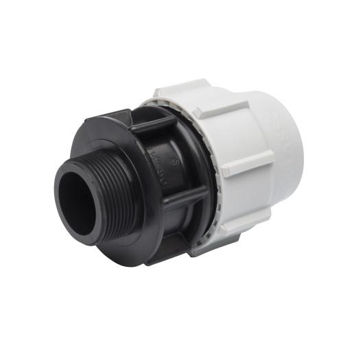 "Plasson MDPE Male Coupling - 20mm x ½"""