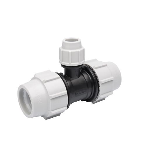 Plasson MDPE Reducing Tee - 32mm x 32mm x 25mm