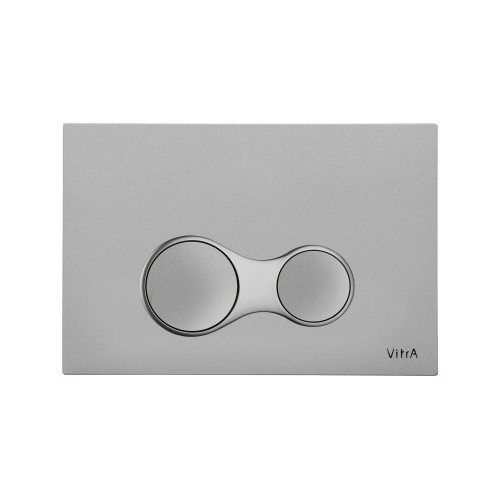 Vitra Sirius Mechanical Flush Plate - Steel - Anti-Fingerprint