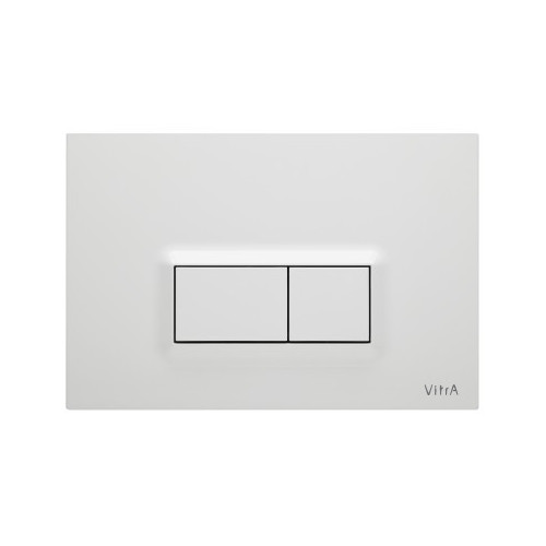 Vitra Loop R Mechanical Flush Plate - Gloss White