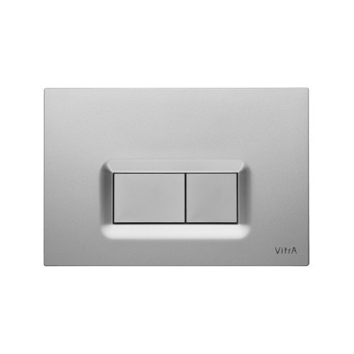Vitra Loop R Mechanical Flush Plate - Steel - Anti-Fingerprint