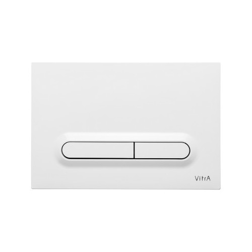 Vitra Loop T Mechanical Flush Plate - Gloss White