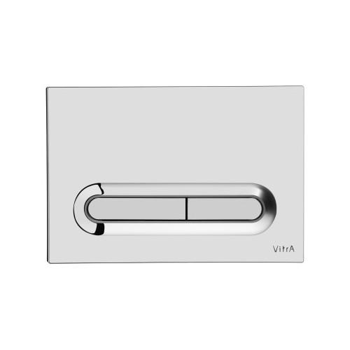 Vitra Loop T Mechanical Flush Plate - Chrome