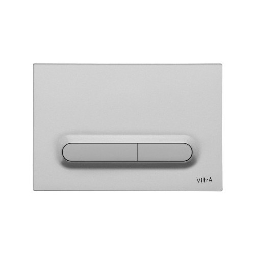 Vitra Loop T Mechanical Flush Plate - Matt Chrome