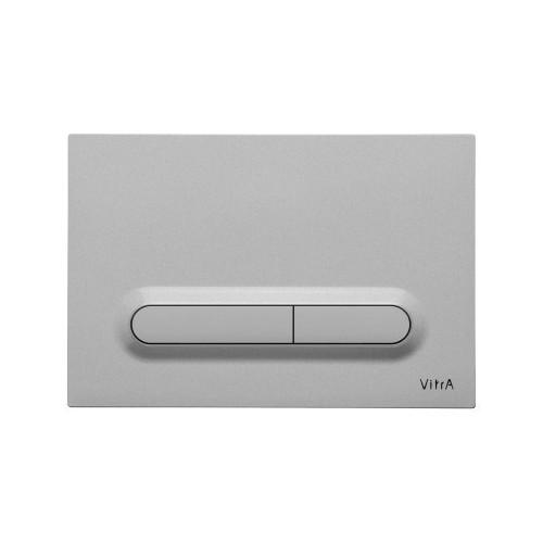 Vitra Loop T Mechanical Flush Plate - Steel - Anti-Fingerprint