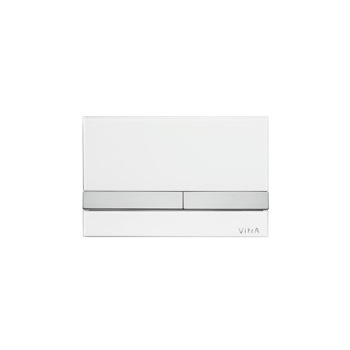 Vitra Select Mechanical Flush Plate - White Glass