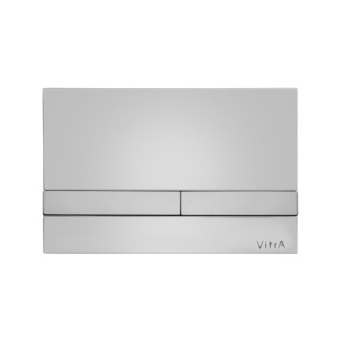 Vitra Select Mechanical Flush Plate - Chrome