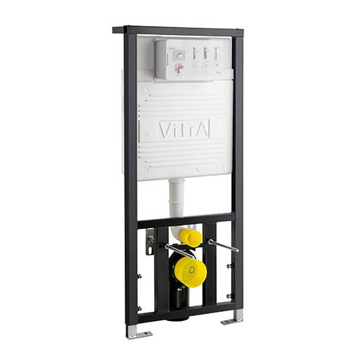 Vitra 1120mm High 120mm Deep Wall Hung WC Frame, Dual Flush (6/3Ltr)