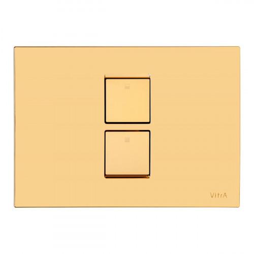 Vitra Twin 2 Pneumatic Flush Plate - Gold