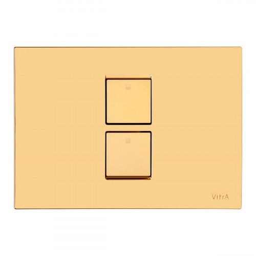 Vitra Twin 2 Pneumatic Flush Plate - Gold