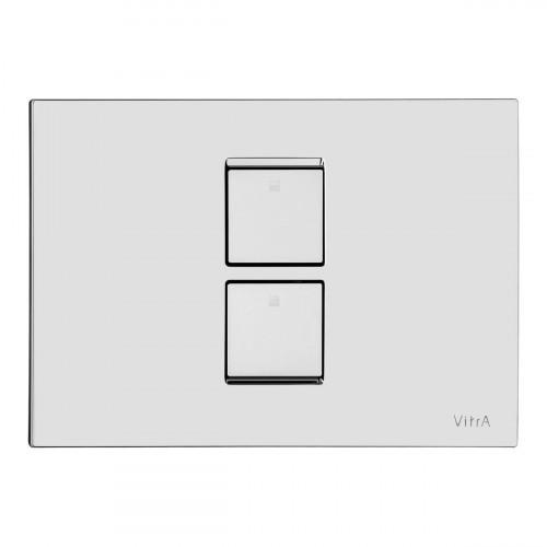 Vitra Twin 2 Pneumatic Flush Plate - Chrome