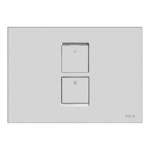 Vitra Twin 2 Pneumatic Flush Plate - Matt Chrome