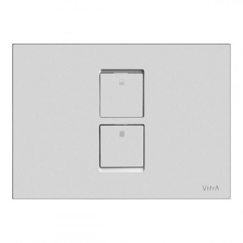 Vitra Twin 2 Pneumatic Flush Plate - Matt Chrome