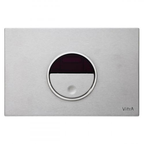 Vitra Pro Electronic Flush Plate - Brushed Chrome