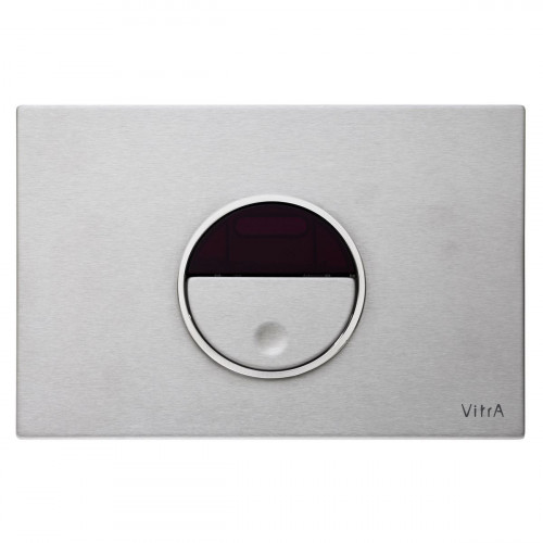 Vitra Pro Electronic Flush Plate - Brushed Chrome