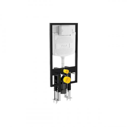 Vitra 1120mm High 80mm Deep Wall Hung WC Frame, Floor Mounted, Dual Flush (6/3Ltr)