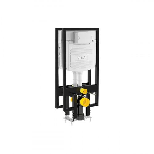Vitra 1120mm High 80mm Deep Wall Hung WC Frame, Twin Cistern, Dual Flush (6/3Ltr)
