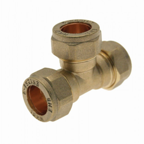Compression Equal Tee - 15mm
