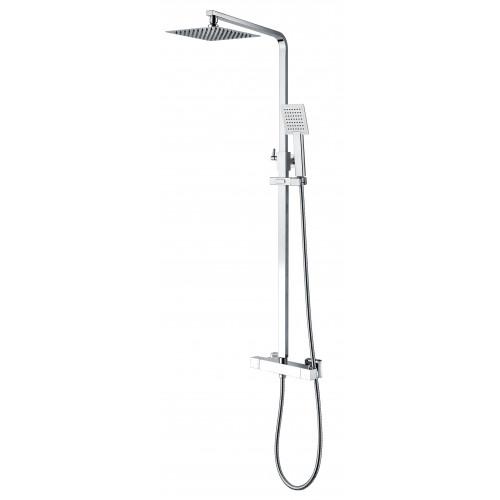 Niagara Observa Square Thermostatic Bar Shower Valve + Rigid Riser Shower Kit