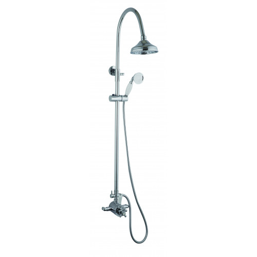 Niagara Arlington Trad Thermostatic Shower Valve + Rigid Riser Shower Kit